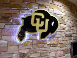 CU Buffalo with halo lighting